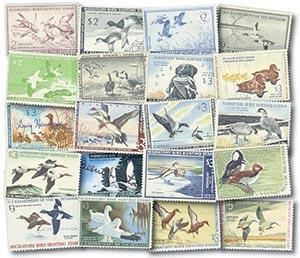 1953-72 US Duck Stamp Col. 20v used