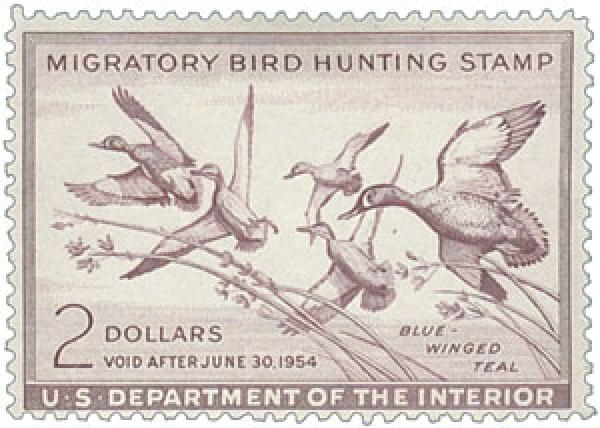 1953 $2.00 Blue-Winged Teal