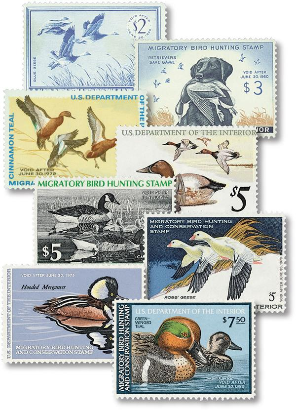 1955-79 US Duck Stamps, Set of 8