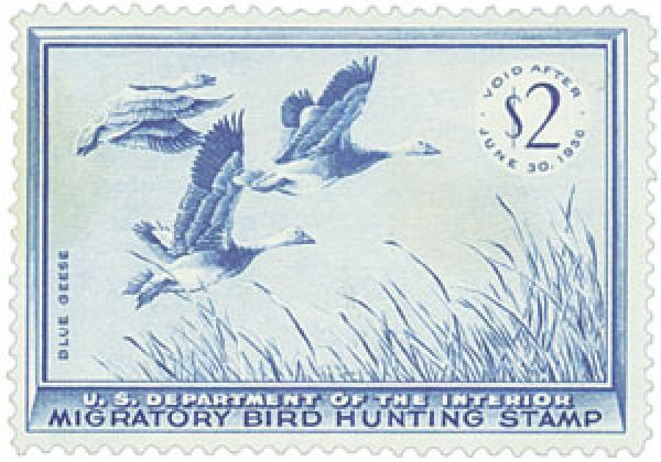 1955 $2.00 Blue Geese