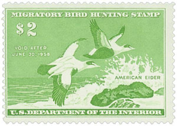 1957 $2.00 American Eider