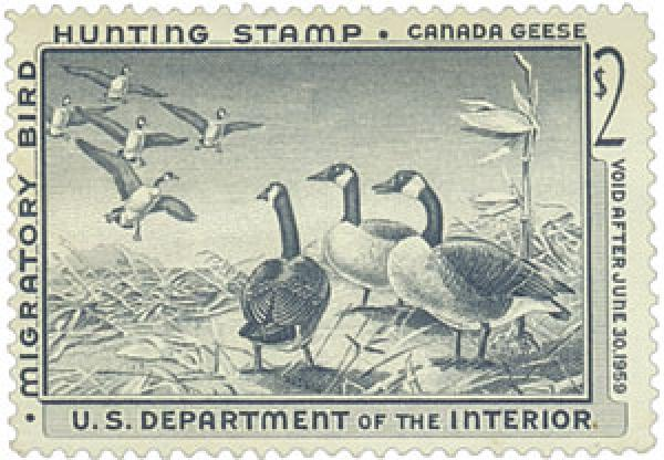 1958 $2.00 Canada Geese