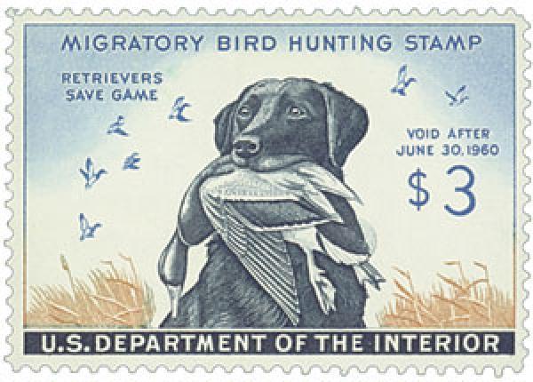 1959 $3.00 Dog & Mallard