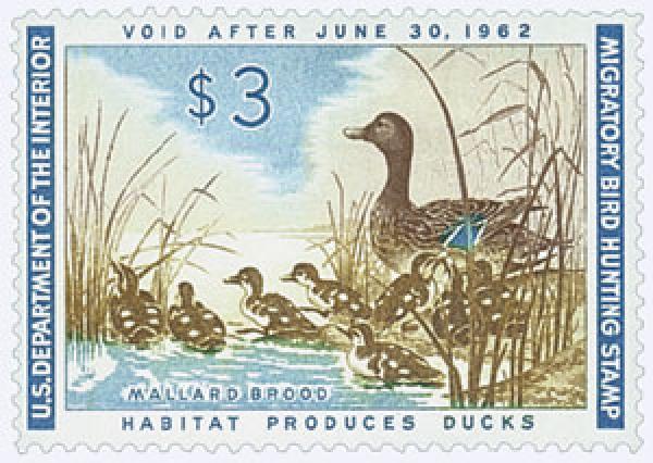 1961 $3.00 Mallard Hen