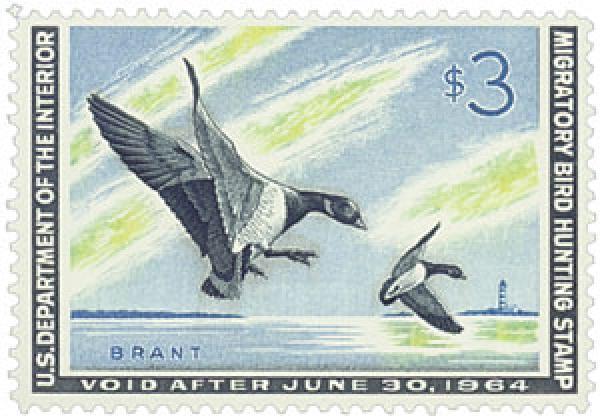 1963 $3.00 Brant Landing Ducks