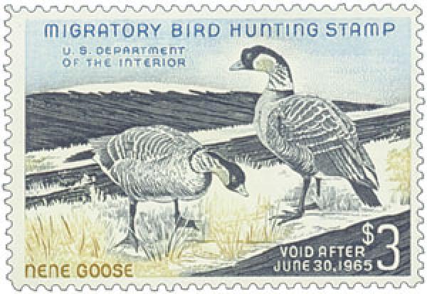 1964 $3.00 Hawaiian Nene Geese
