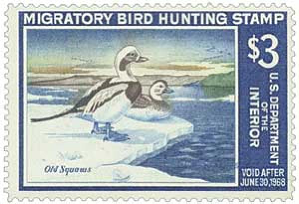 1967 $3.00 Old Squaw Ducks