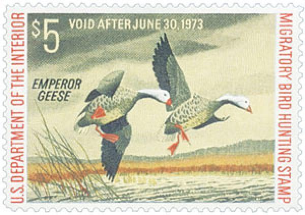 1972 $5.00 Emperor Geese