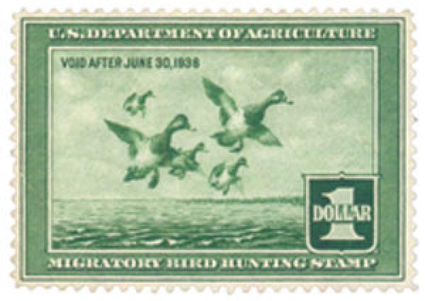 1937 $1.00 Scaup Ducks