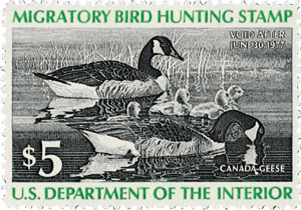 1976 $5.00 Canada Geese