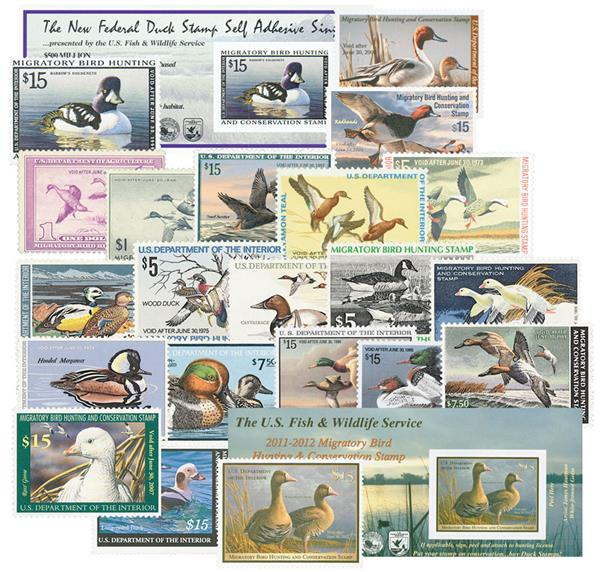 1938-2011 Duck Stamps w/ pages
