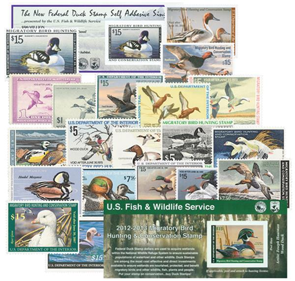 1938-2012 US Duck Stamps w/ pages