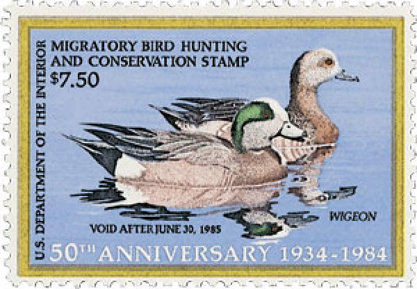 1984 $7.50 Wigeon