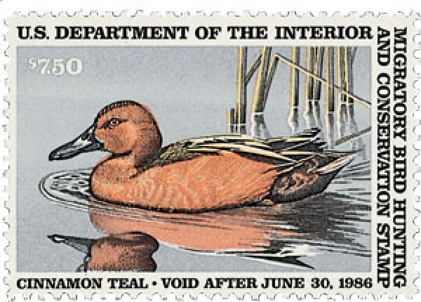 1985 $7.50 Cinnamon Teal