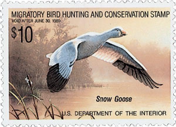 1988 $10.00 Snow Goose