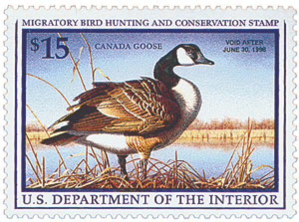 1997 $15.00 Canada Goose