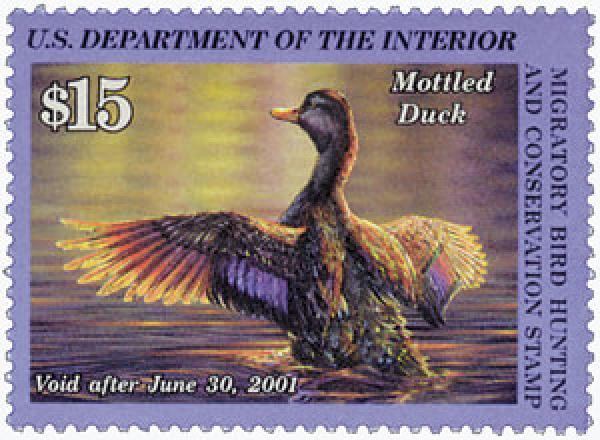 2000 $15 Mottled Duck