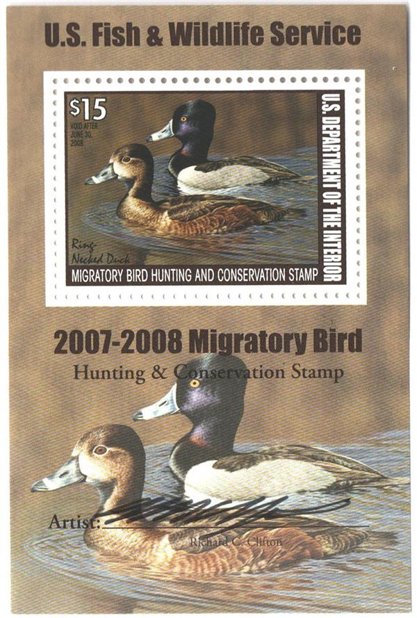 2007 $15 Ring-necked Ducks S/S