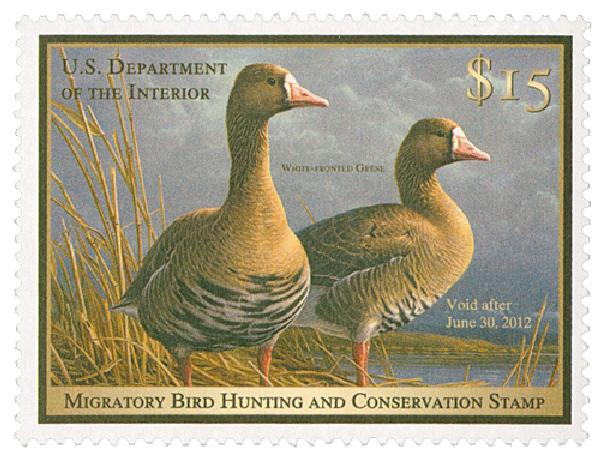 2011 $15 White Fronted Geese