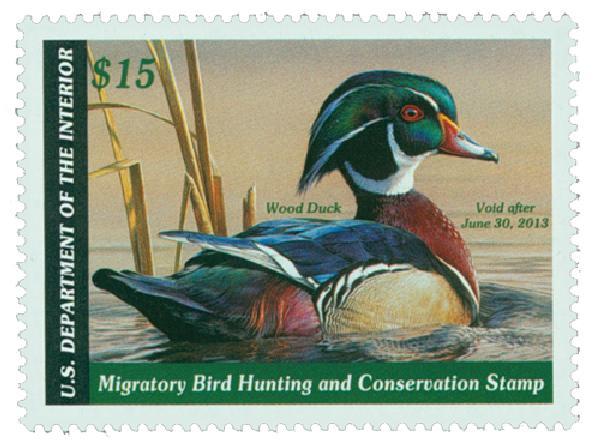 2012 $15 Wood Duck