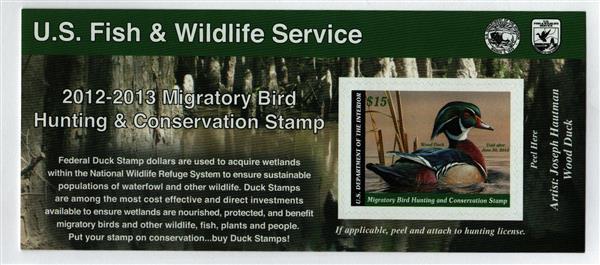 2012 $15 Wood Duck S/S