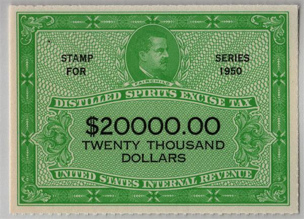 1950 $20,000 yellow green & black