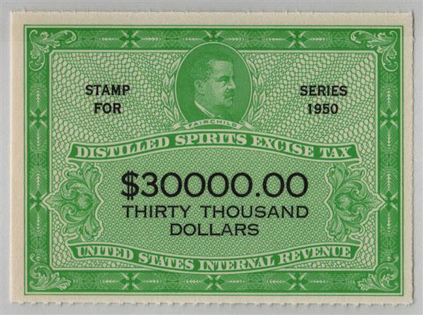 1950 $30,000 yellow green & black