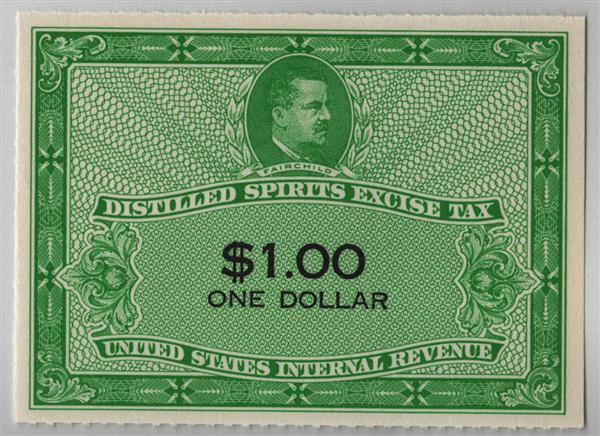 1952 $1.00 yellow green & black
