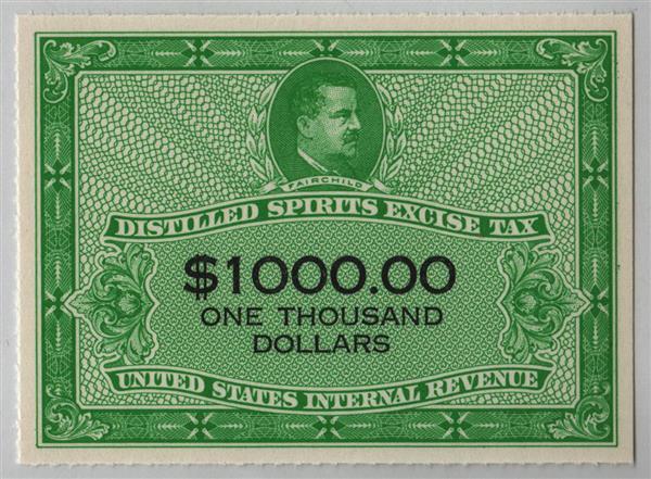 1952 $1,000 yellow green & black