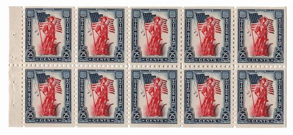 1961 25c Minute Man & 50 star Flag,BP 10