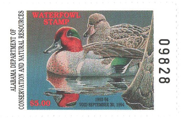 1993 Alabama State Duck Stamp