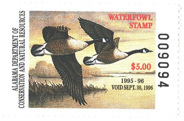 1995 Alabama State Duck Stamp