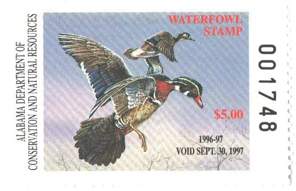 1996 Alabama State Duck Stamp