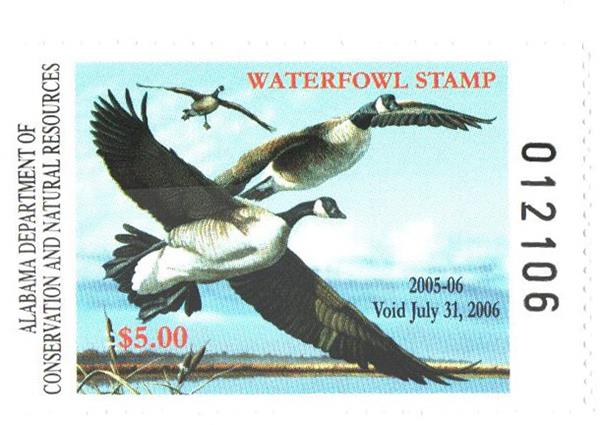 2005 Alabama State Duck Stamp