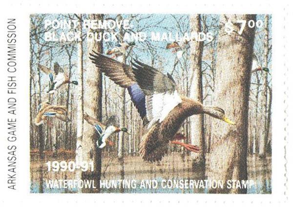 1990 Arkansas State Duck Stamp