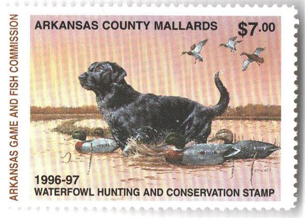 1996 Arkansas State Duck Stamp