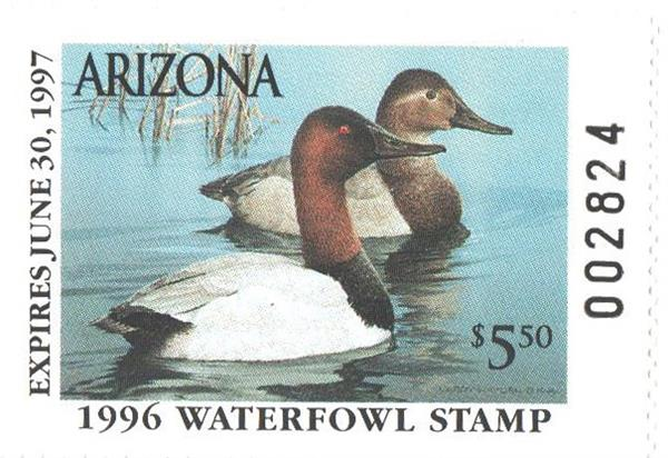 1996 Arizona State Duck Stamp