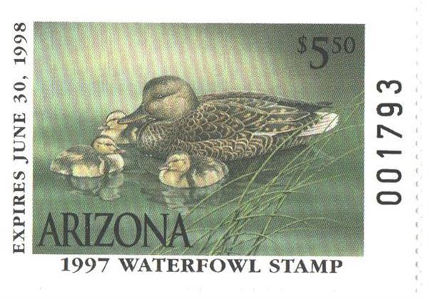 1997 Arizona State Duck Stamp