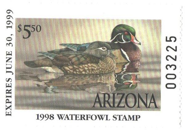 1998 Arizona State Duck Stamp