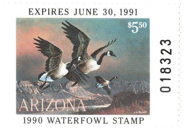1990 Arizona State Duck Stamp