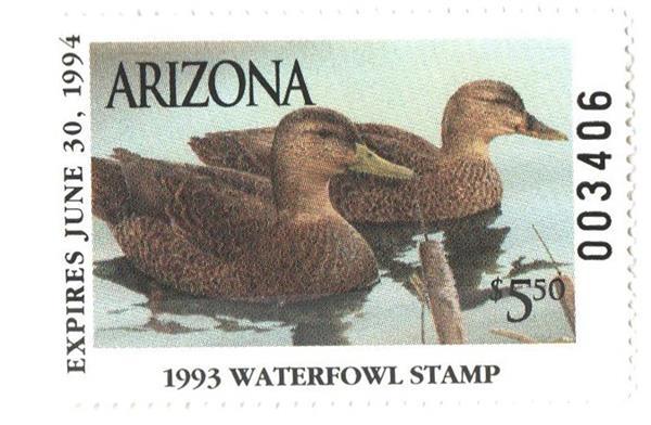 1993 Arizona State Duck Stamp