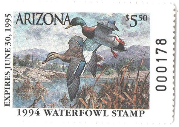 1994 Arizona State Duck Stamp