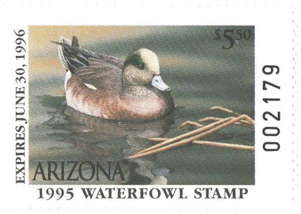 1995 Arizona State Duck Stamp