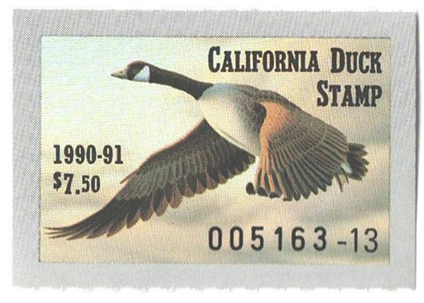 1990 California State Duck Stamp
