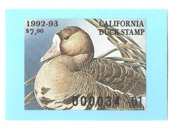 1992 California State Duck Stamp