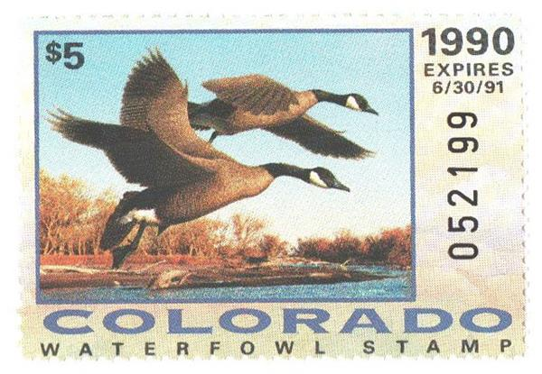 1990 Colorado State Duck Stamp