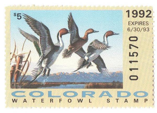 1992 Colorado State Duck Stamp