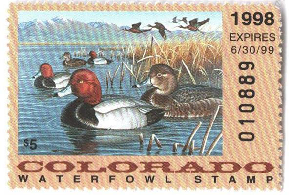 1998 Colorado State Duck Stamp