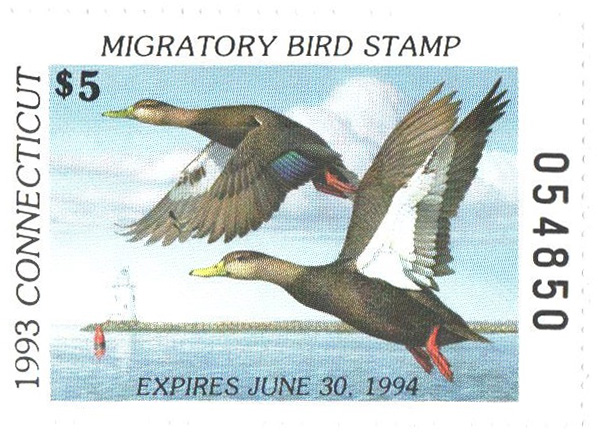 1993 Connecticut State Duck Stamp