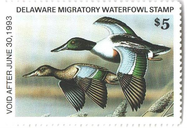 1992 Delaware State Duck Stamp